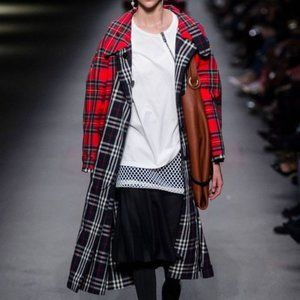 NWT BURBERRY 2018 Plaid Mixed Long Trench coat M